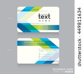 trendy business card design... | Shutterstock .eps vector #449811634