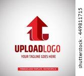 red arrow in upload logo... | Shutterstock .eps vector #449811715