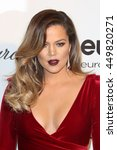 Small photo of Hollywood, California, USA; March 2, 2014; Khloe Kardashian arrives to Elton John AIDS Foundation Presents 22nd Academy Award Viewing Party.