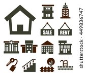 buying home icon set | Shutterstock .eps vector #449836747