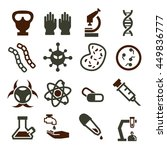 biohazard  toxic icon set | Shutterstock .eps vector #449836777