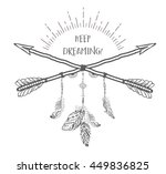 boho style with ethnic arrows... | Shutterstock .eps vector #449836825