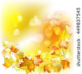 vector autumn background with... | Shutterstock .eps vector #449837545