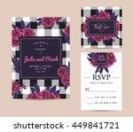 botanic invitation set with... | Shutterstock .eps vector #449841721