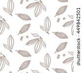 cocoa beans outline seamless... | Shutterstock .eps vector #449842501