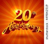 vector 20 years anniversary... | Shutterstock .eps vector #449842519