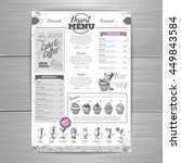 vintage dessert menu design....   Shutterstock .eps vector #449843584