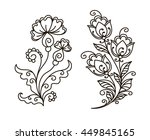 vector  contour  black and...   Shutterstock .eps vector #449845165