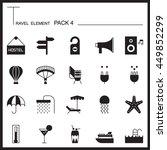 travel element graph icon set 4....