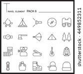 travel element line icon set 6...