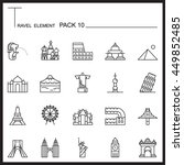 travel element line icon set 10....