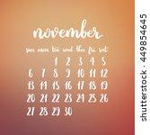 Vector Calendar Of Autumn....