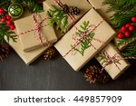 christmas or new year presents... | Shutterstock . vector #449857909