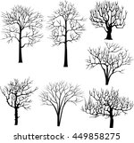 a set of seven silhouettes of... | Shutterstock .eps vector #449858275