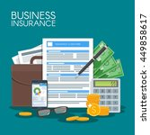 business insurance concept... | Shutterstock . vector #449858617