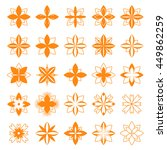 Set Of Floral Symbols For...