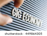 gig economy concept background | Shutterstock . vector #449864305