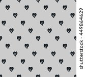 black and white heart vector... | Shutterstock .eps vector #449864629