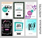 social media banner templates... | Shutterstock .eps vector #449874781