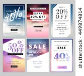 set of sale banners vector... | Shutterstock .eps vector #449874814