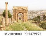 North gate in the Roman city of Jerash, Jordan.