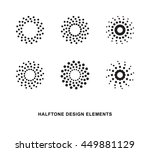 abstract circular halftone dots ... | Shutterstock .eps vector #449881129
