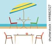 summer beach furniture flat set ...   Shutterstock . vector #449882527