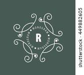 monogram vector in frame | Shutterstock .eps vector #449882605