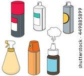 vector set of spray can | Shutterstock .eps vector #449885899