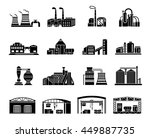 set of factory building ... | Shutterstock .eps vector #449887735