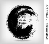 hand drawn circle shape. label  ... | Shutterstock .eps vector #449888179
