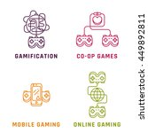 game related concepts  line... | Shutterstock .eps vector #449892811
