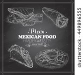 scetch of mexican food menu on... | Shutterstock .eps vector #449896555