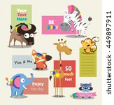 wild animal zoo template vector ... | Shutterstock .eps vector #449897911