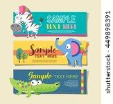 wild animal zoo banner vector... | Shutterstock .eps vector #449898391