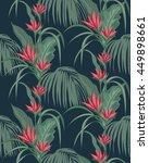 decorative tropical green... | Shutterstock .eps vector #449898661