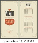 menu food and beverage for the... | Shutterstock .eps vector #449902924