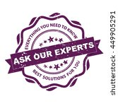 ask our experts. everything you ... | Shutterstock .eps vector #449905291