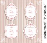 set of vector labels  cutout... | Shutterstock .eps vector #449906887
