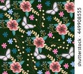 flowers and butterflies | Shutterstock .eps vector #449908555