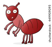 freehand drawn cartoon ant | Shutterstock . vector #449909095