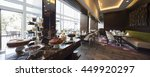 modern restaurant interior | Shutterstock . vector #449920297