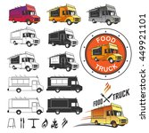 food truck emblems | Shutterstock .eps vector #449921101