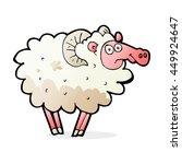 cartoon dirty sheep | Shutterstock . vector #449924647