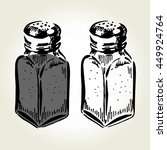 hand drawn salt and pepper... | Shutterstock .eps vector #449924764
