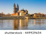 view to the dome of magdeburg... | Shutterstock . vector #449929654