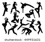 a set of woman street dance hip ... | Shutterstock .eps vector #449931631