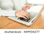 woman shopping online   Shutterstock . vector #449934277