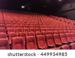 blurred empty red cinema seats... | Shutterstock . vector #449934985