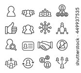 social network icon set in thin ... | Shutterstock .eps vector #449937535